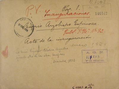 Buenos Aires, Barracas, Microbarrio Monseñor Espinosa, 1923