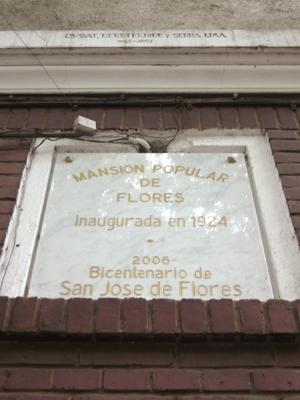 Buenos Aires, Flores, La Mansión de Flores, 1924