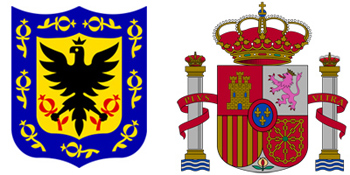 Spain & Bogotá coat-of-arms, escudo
