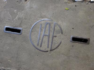 CIAE manhole cover, Buenos Aires