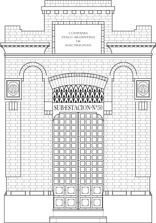 Buenos Aires, CIAE subestación, vector render