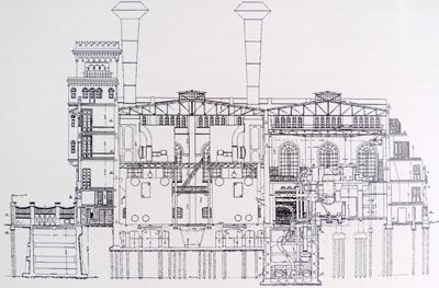 CIAE architecture, Buenos Aires, La Boca, Chiogna, Usina Pedro de Mendoza