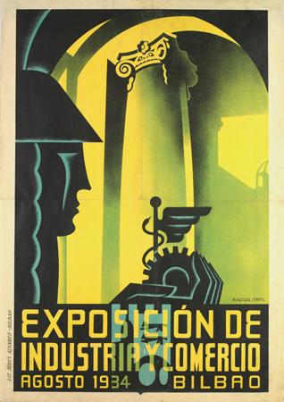 Museo de Bellas Artes de Bilbao, poster, afiche, Martínez Ortiz de Zarate
