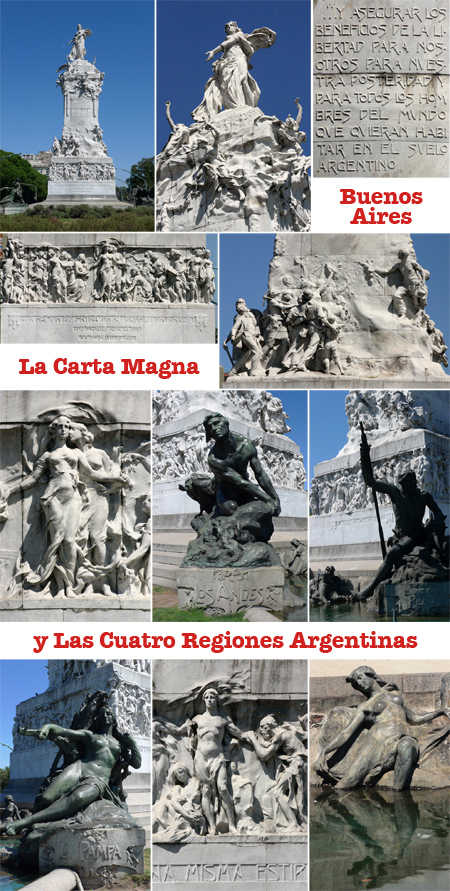 Buenos Aires, La Carta Magna y Las Cuatro Regiones Argentinas, Querol i Subirats, Art Nouveau, Julián García Núñez