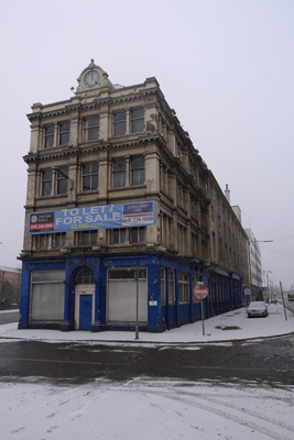Abandoned building, River Clyde, south bank