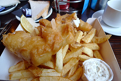 Glasgow, The Chippy, fish & chips