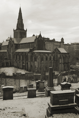 Scotland, Glasgow, Cathedral from Necropolis