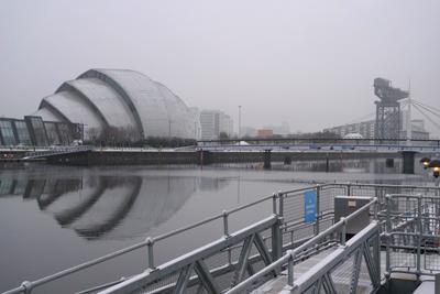 Scotland, Glasgow, River Clyde, Sir Norman Foster, Clyde Auditorium, Armadillo