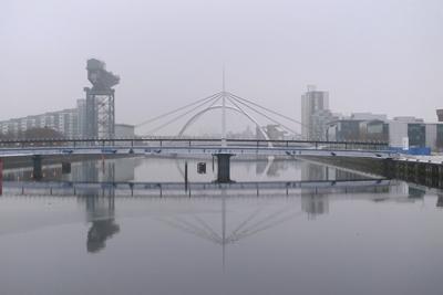 Scotland, Glasgow, River Clyde bridges
