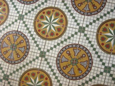 Provincia de Buenos Aires, Saavedra, ayuntamiento, encaustic tiles