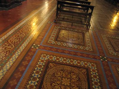 Buenos Aires, Monserrat, Basílica de San Francisco, encaustic tiles
