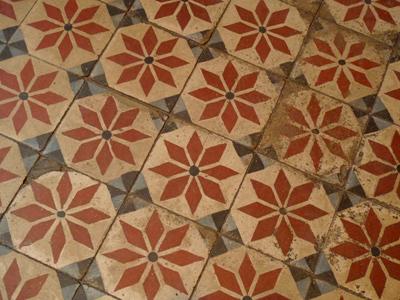 Buenos Aires, Barracas, Instituto Santa Felicitas, encaustic tiles