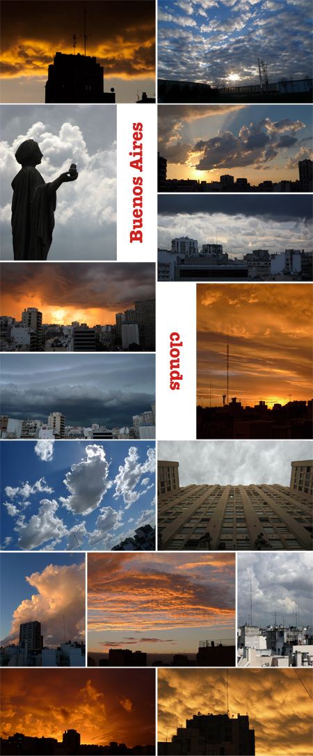 Buenos Aires, Argentina, photo essay, clouds
