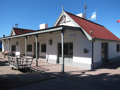 Argentina, Chubut, Trelew, railway station, museum
