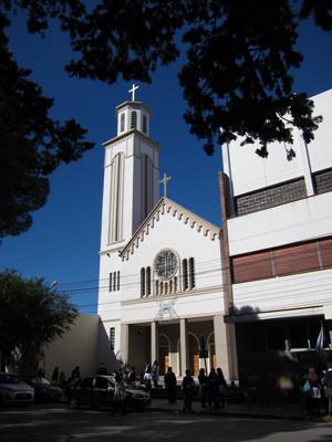 Argentina, Chubut, Trelew, Plaza Independencia, Iglesia María Auxiliadora