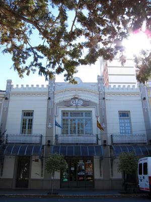 Argentina, Chubut, Trelew, Plaza Independencia, Teatro Español