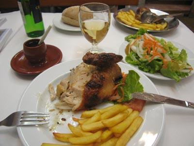 Portugal, food, frango piri-piri, Restaurante Bomjardin