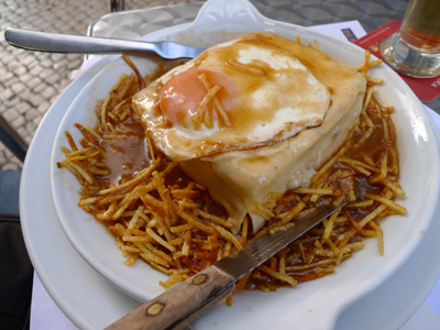 Portugal, food, Porto, francesinha