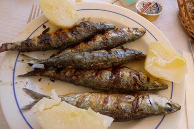 Portugal, food, sardinhas assadas, sardinhas grelhadas