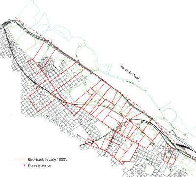 Buenos Aires, mapa de las tierras de Rosas