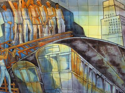 Buenos Aires, subte, subway, tiles, azulejos, Línea D, Estación Catedral