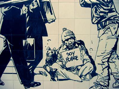 Buenos Aires, subte, subway, tiles, azulejos, Línea A, Estación Lima