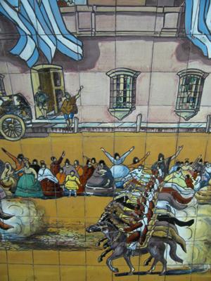 Buenos Aires, subte, subway, tiles, azulejos, Línea E, Estación General Urquiza