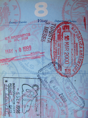 Robert Wright, passport, Gibraltar, Argentina
