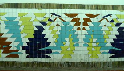 Buenos Aires, subte, subway, tiles, azulejos, Línea D, Estación Pueyrredón