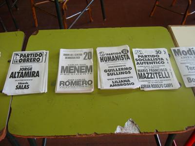 Argentina, politics, boletas, 2003 presidential election
