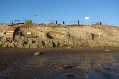 Argentina, Puerto Madryn, Punta Cuevas, Welsh caves