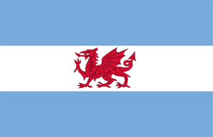 Argentina, Chubut, Puerto Madryn, Welsh flag