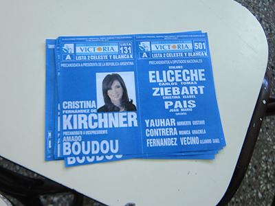 Argentina, elecciones primarias, boleta K, Chubut