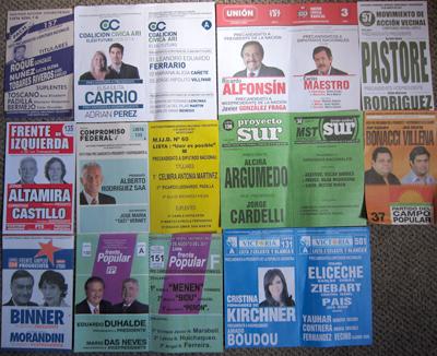 Argentina, elección primaria, boletas