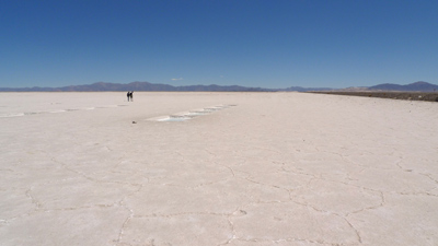 Argentina, Jujuy, Salinas Grandes, salt flats