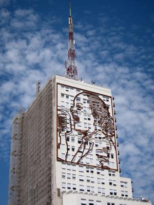 Buenos Aires, Avenida 9 de Julio, ex-Ministerio de Obras Públicas, Eva Perón, Daniel Santoro