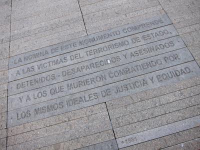 Buenos Aires, Belgrano, Parque de la Memoria, Monumento a las Víctimas del Terrorismo del Estado