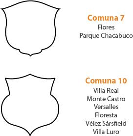 Buenos Aires, sample emblema, comunas