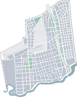 Buenos Aires, Barracas, map
