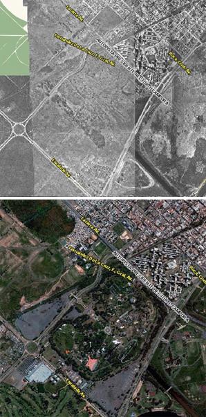 Parque de la Ciudad, antes y después, Buenos Aires