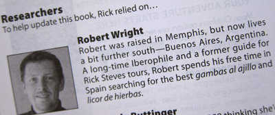 Robert Wright, guidebook credit/bio