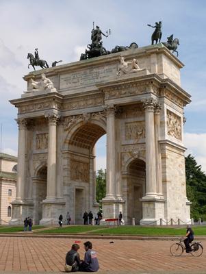 Milan, Milano, Arco della Pace