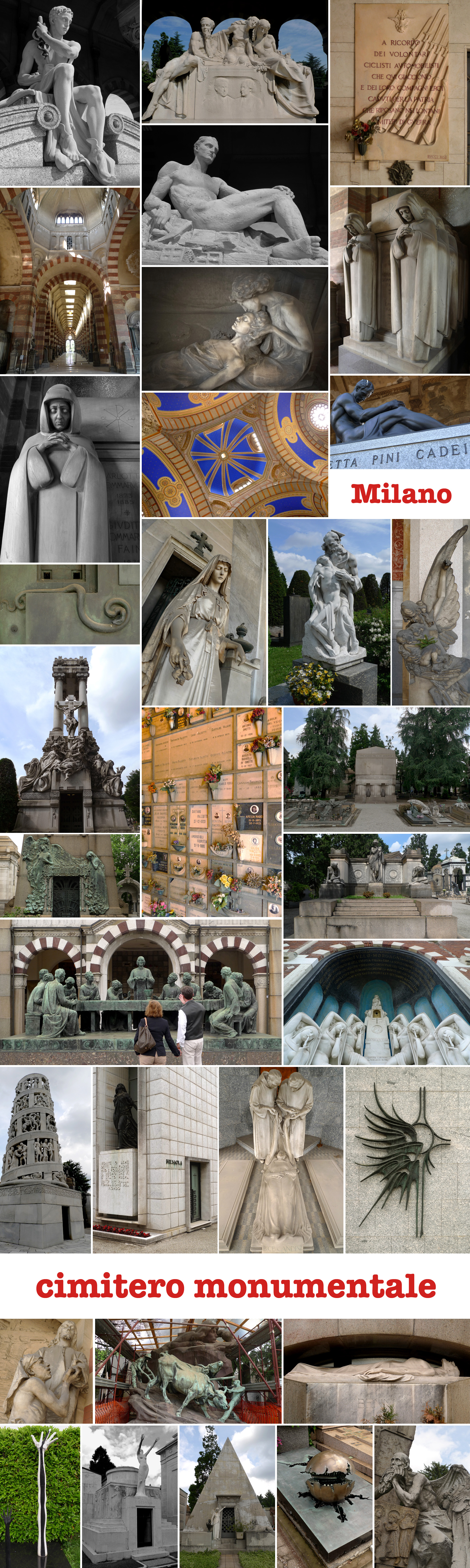 Cimitero Monumentale, Milano, map