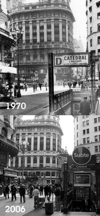 Buenos Aires, Diagonal Norte, then & now