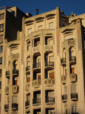 Montevideo, Plaza de la Independencia, Palacio Rinalde, Art Deco
