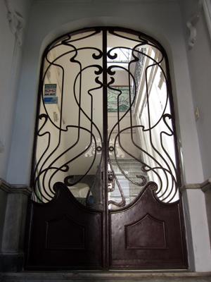 Montevideo, Ciudad Vieja, puerta, door, Art Nouveau