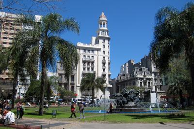 Montevideo, Avenida 18 de Julio, Plaza Fabini
