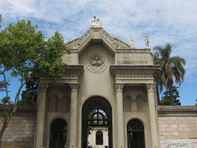 Montevideo, Cementerio Central, entrance gate