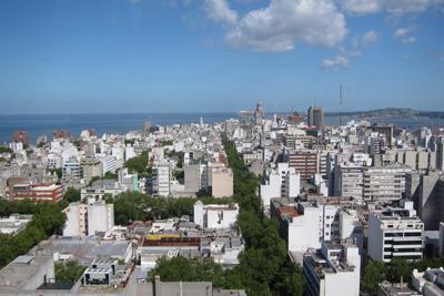 Montevideo, Avenida 18 de Julio, Palacio Municipal, panorama, mirador