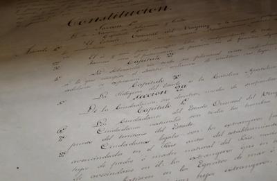 Montevideo, Palacio Legislativo, Salón de los Pasos Perdidos, Constitución